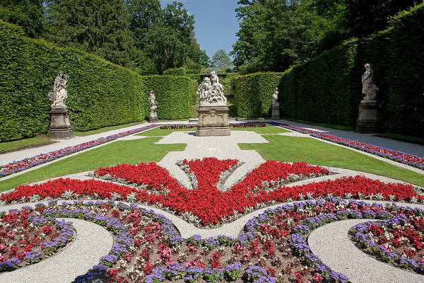 Flowerbeds And Sculptures In Eastern Parterre Art Print
