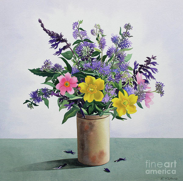 Wall Art - Painting - Flowers by Christopher Ryland