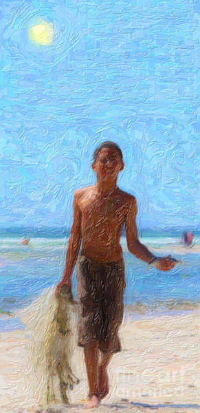 Painting - Fisher Boy  by Celestial Images