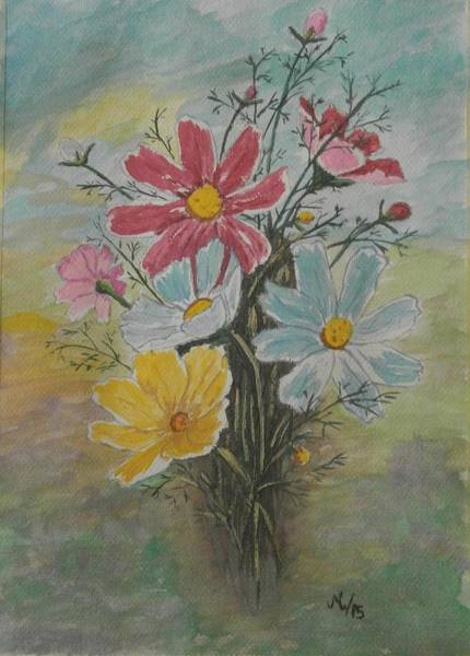 Developed Painting - Flowers by Maria Woithofer
