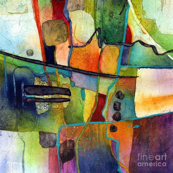 Wall Art - Painting - Fluvial  Mosaic by Hailey E Herrera