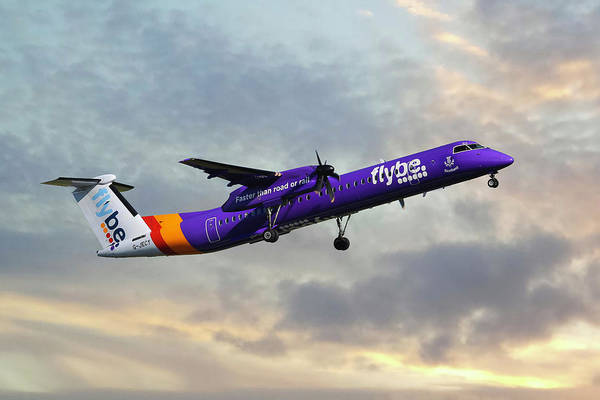 8 Wall Art - Photograph - Flybe Bombardier Dash 8 Q400 by Smart Aviation
