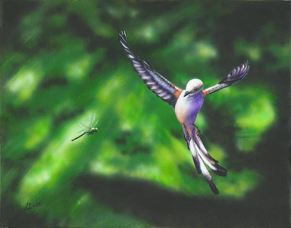 Dragon Fly Painting - Focused by Lorrie Bridges