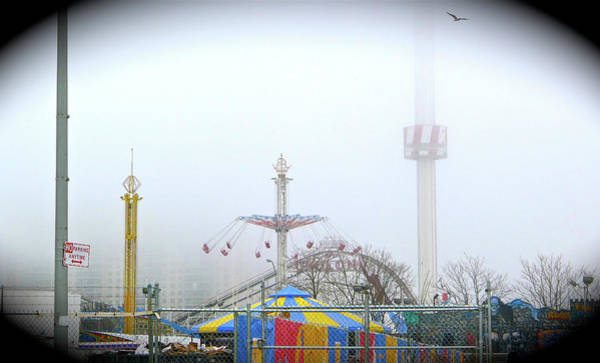 Photograph - Foggy Coney Island by Frank Winters