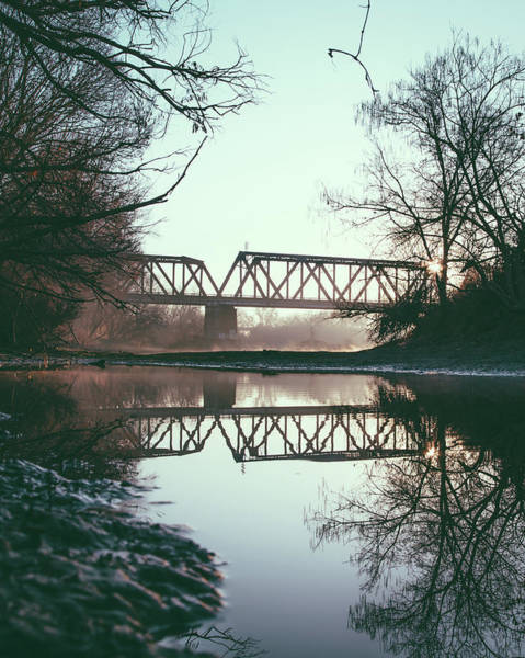 Photograph - Foggy Reflection by Lee Harland