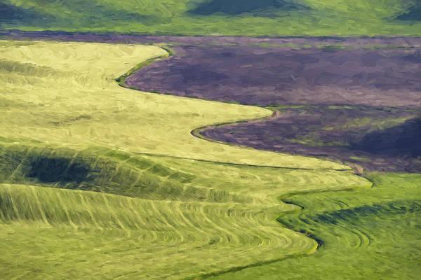 Farming Digital Art - Follow The Lines II by Jon Glaser
