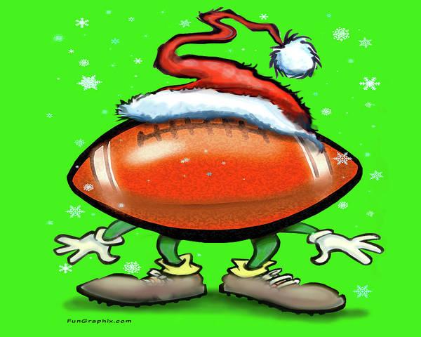 Digital Art - Football Christmas by Kevin Middleton
