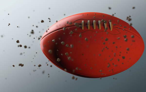 Wake Up Digital Art - Footy Ball In Flight by Allan Swart