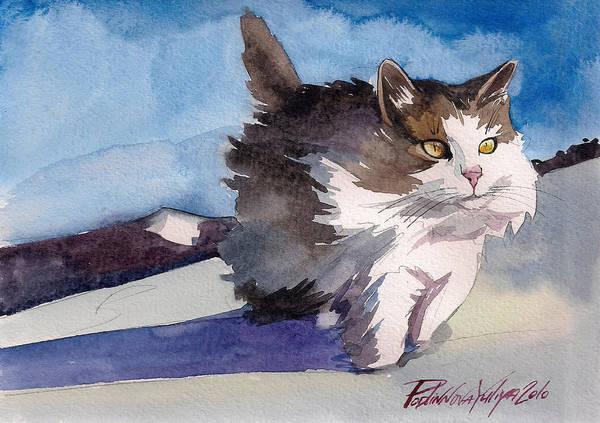 Wall Art - Painting - Forest Cat by Yuliya Podlinnova