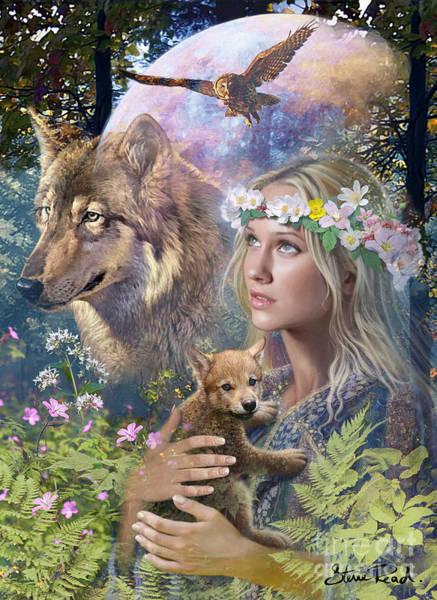 Ferns Digital Art - Forest Friends by MGL Meiklejohn Graphics Licensing