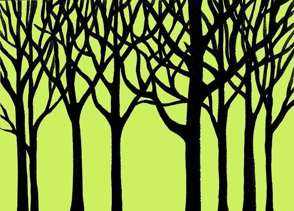 Into The Woods Wall Art - Painting - Forest by Irina Sztukowski