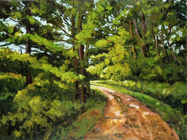 Painting - Forest Pathway by Ingrid Dohm