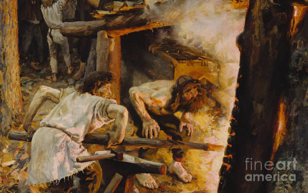 Painting - Forging Of The Sampo by Celestial Images