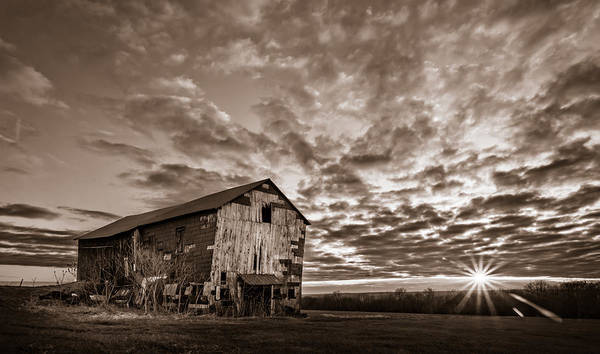 Photograph - Forgotten Dreams On Pickup Hill - Bw by Chris Bordeleau
