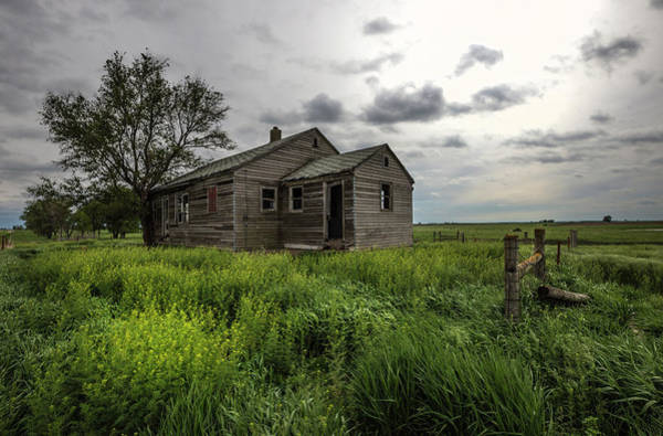 Middle Of Nowhere Photograph - Forgotten On The Prairie by Aaron J Groen