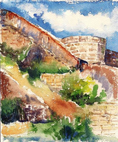 Painting - Fort by Asha Sudhaker Shenoy