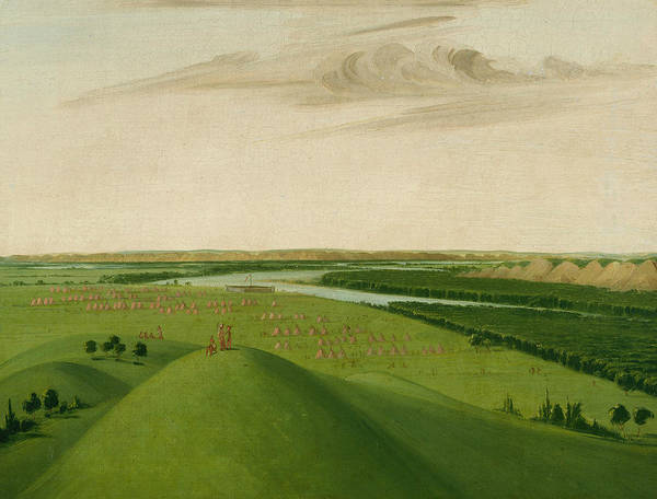 Painting - Fort Union, Mouth Of The Yellowstone River by George Catlin