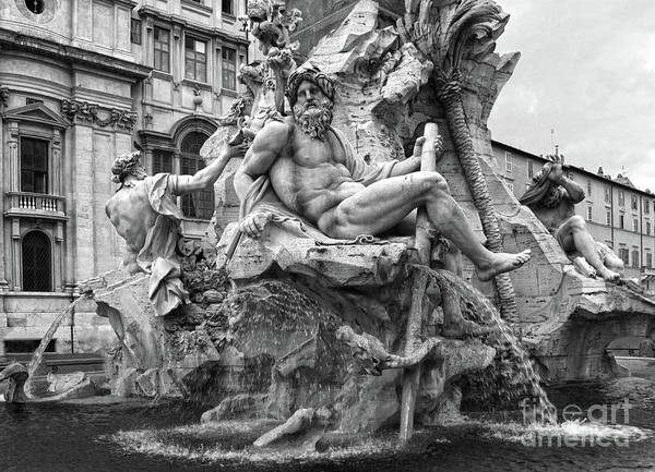 Photograph - Fountain Of The Four Rivers In Rome by Gregory Dyer
