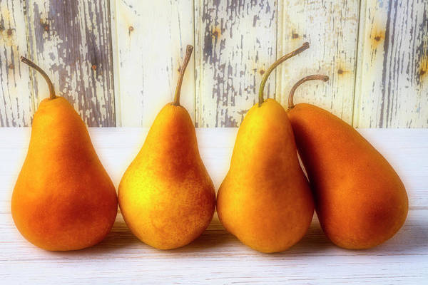 Wall Art - Photograph - Four Pears by Garry Gay