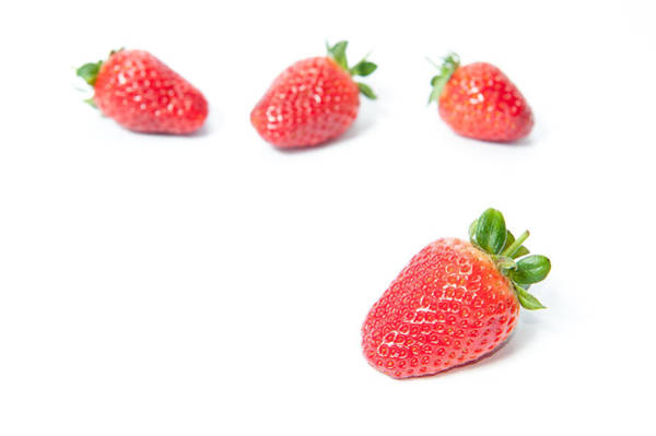 Photograph - Four Strawberries by Helen Northcott