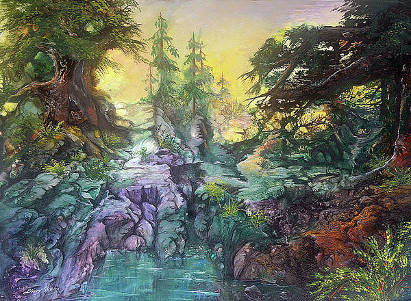Painting - Fox Hollow by Sherry Shipley