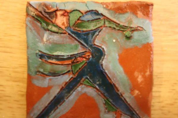 Ceramic Art - Frances - Tile by Gloria Ssali