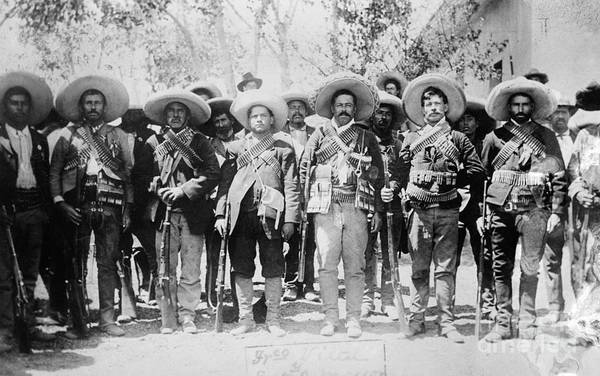 Villa Photograph - Francisco Pancho Villa by Granger