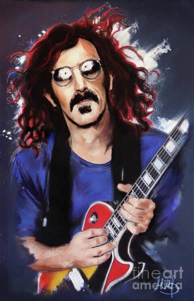 Frank Zappa Wall Art - Painting - Frank Zappa by Melanie D