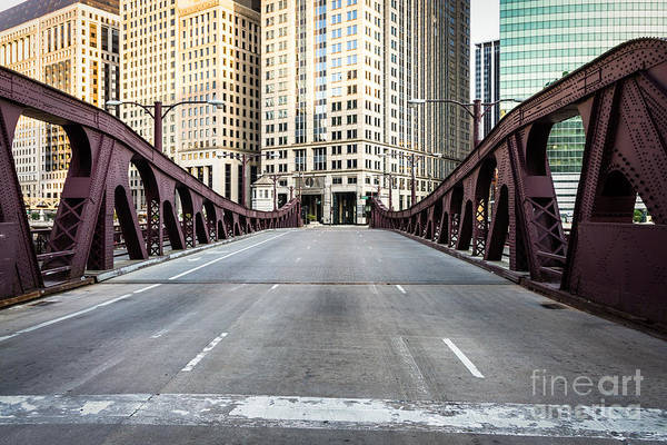 Wall Art - Photograph - Franklin Orleans Street Bridge Chicago Loop by Paul Velgos