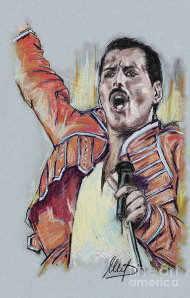 Wall Art - Painting - Freddie Mercury 1 by Melanie D