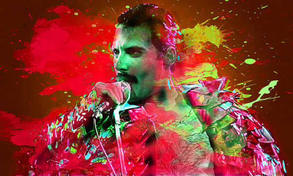 Wall Art - Digital Art - Freddie Mercury by Elena Kosvincheva