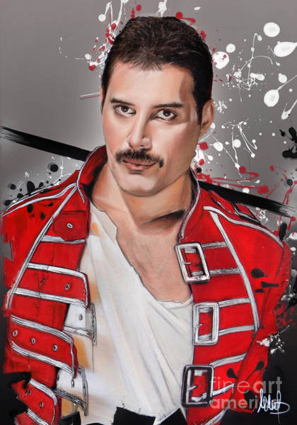 Wall Art - Pastel - Freddie Mercury by Melanie D