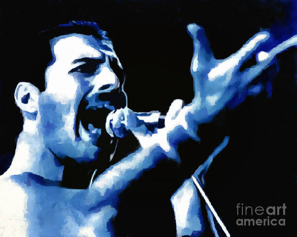 Glam Rock Drawing - Freddie Mercury Collection - 2 by Sergey Lukashin