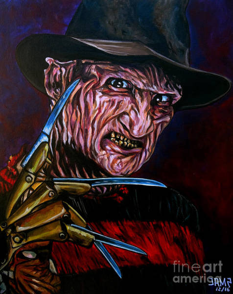 Nightmare On Elm Street Painting - Freddy Krueger by Jose Mendez