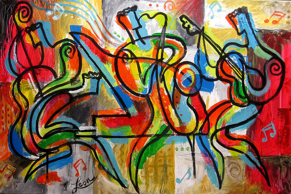 Wall Art - Painting - Free Jazz by Leon Zernitsky