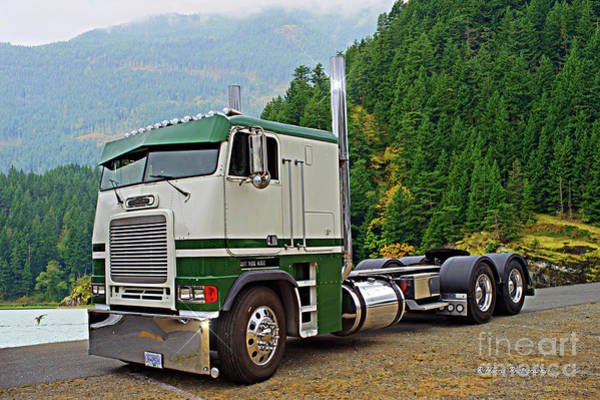 Wall Art - Photograph - Freightliner Cabover by Randy Harris
