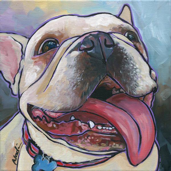 Bully Painting - French Bulldog by Nadi Spencer