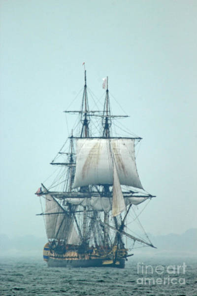 Wall Art - Photograph - French Frigate Hermione by Jim Beckwith