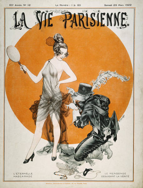 Photograph - French Magazine Cover by Granger