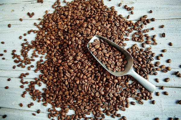 Heavy Photograph - Fresh Roasted Coffe Beans by Nailia Schwarz