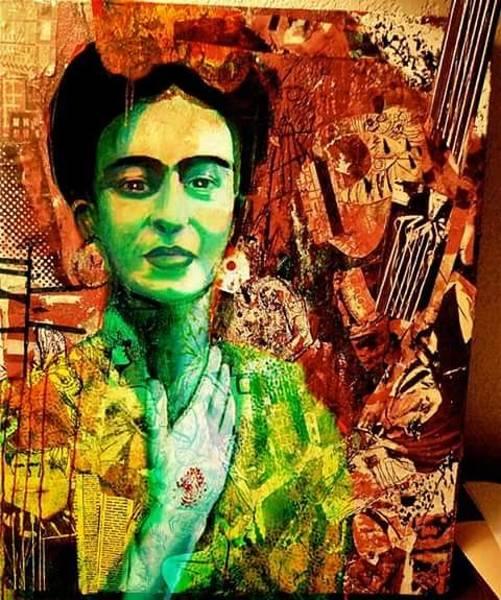 Mixed Media - Frida by Amy Lindemann