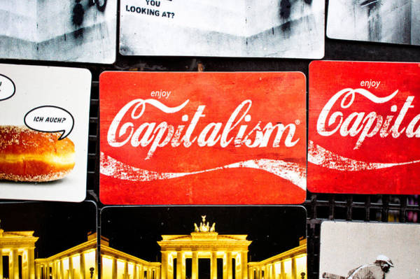 Capitalism Wall Art - Photograph - Fridge Magnets by Tom Gowanlock