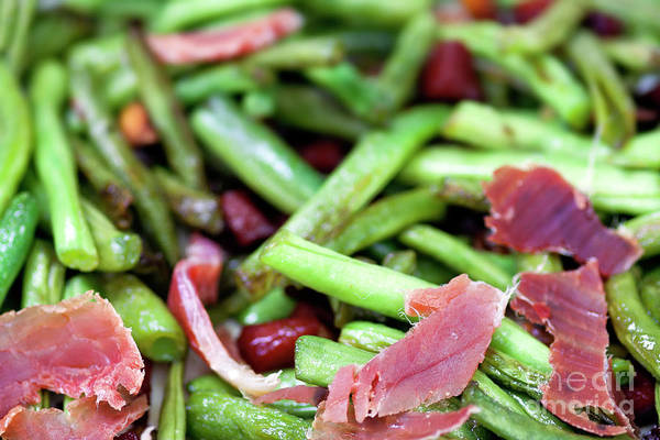 Wall Art - Photograph - Fried Green Beans With Ham by Michal Boubin