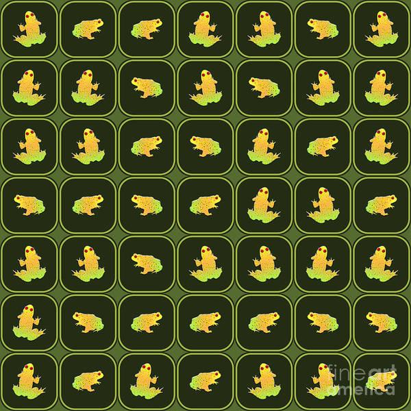 Wall Art - Digital Art - Frogs Pattern by Gaspar Avila