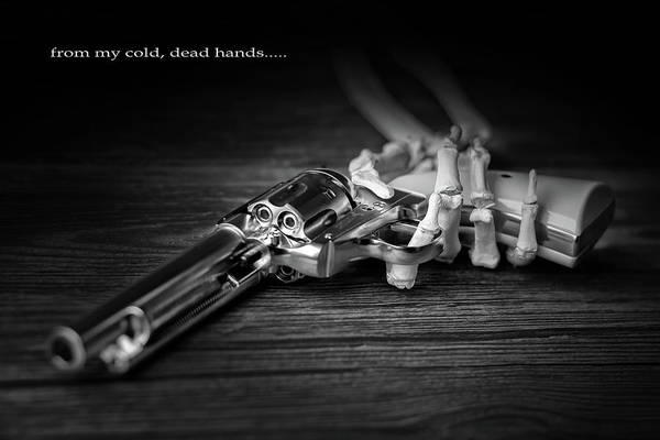 Bone Photograph - From My Cold, Dead Hands by Tom Mc Nemar