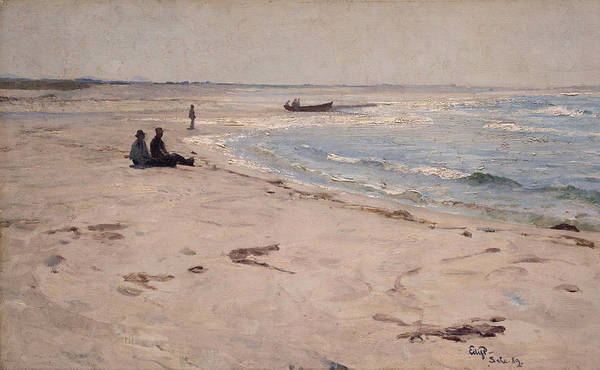 Painting - From The Beach At Sele by Eilif Peterssen