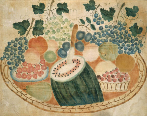 Painting - Fruit On A Tray by American 19th Century
