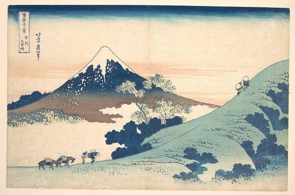 Painting - Fuji From Inume Pass by Katsushika Hokusai