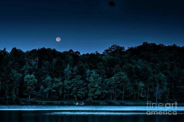 Photograph - Full Moon Fishing by Thomas R Fletcher