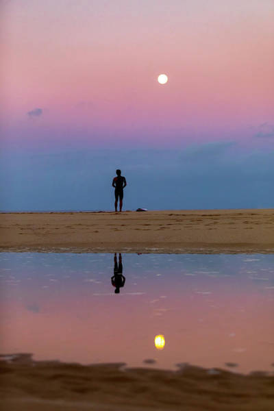 Wall Art - Photograph - Full Moon Surfer by Sean Davey